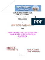 Corporate Tax Planing
