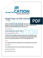 GSAT Sample Paper With Solutions