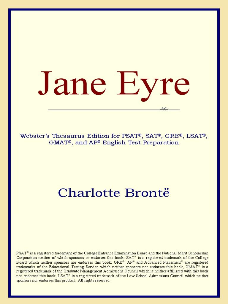 Charlotte Bronte Jane Eyre Websters Thesaurus Bookos