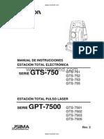 Manual Topcon Serie GPT7500 Español