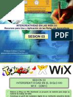 Intercreatividad en Las Web 2 - Sesion 03 Wix-comic