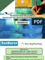Intercreatividad en Las Web 2 - Sesion 04 Generadores de Publicacion