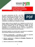 31-01-14 AGENDA LEGISLATIVA CUARTA PLENARIA GPPRI-GPPVEM