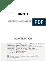 Meetings and Greetings