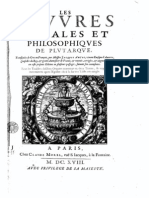 Plutarque – Oeuvres Morales & Philosophiques- http://www.projethomere.com