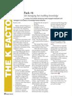 Knowledge Management Six Pack #4 (FREE pdf)