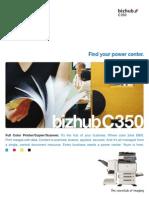 BizhubC350 Brochure