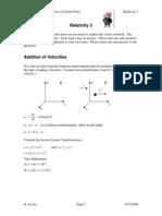 Relativity 3 - Doppler Effect