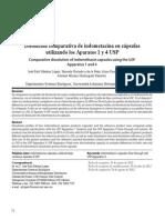 Disolucion Comparativa de Indometacina en Capsulas Utilizando Los Aparatos 1 y 4 Usp