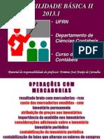 Operações com Mercadorias 2013.1