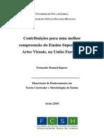 Dissertação de Doutoramento em Teoria Curricular e Metodologias de Ensino