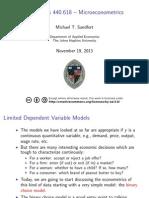 MicroEconometrics Lecture10