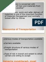 Economics of Transportation