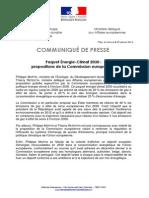 2014.01.22 Paquet Energie Climat 2030 - Propositions CE