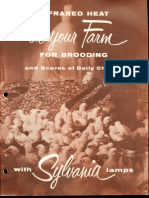 Sylvania Infrared Heating for Farm Brooding Brochure 1958
