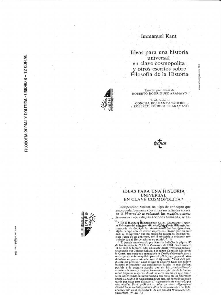 kant ideas para una historia universal en clave cosmopolita pdf