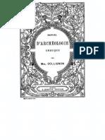 Collignon, Maxime. Manuel d'archéologie grecque