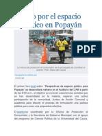 Foro por el espacio público en Popayán