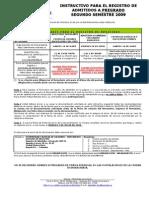 INSTRUCTIVO REGISTRO ADMITIDOS 2009-02