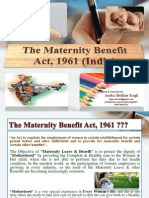 "PPT on ""Maternity Benefit Act 1961"" of India."