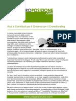 Aiuti e contributi per Il cinema con il Crowdfunding