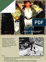 Arte = lenguaje, crítica