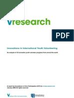 Youth Volunteering Innovations Report ICP 2008