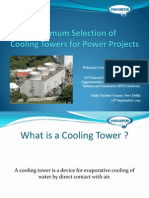 Optimum selection of cooling tower