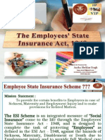 """PPT on """"Employee's State Insurance Act 1948"""" of India."""