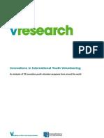 Youth Volunteering Innovations Case Studies ICP 2008