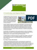 Il Crowdfunding nella Regione Marche