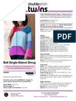 Bell Single-Sleeve Shrug Crochet Pattern