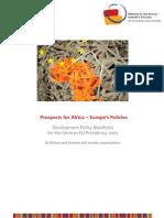Prospects for Africa VENRO Manifesto 2006 En