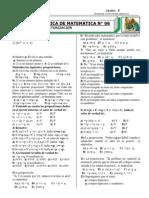 PRÁCTICA Nº 06  4°-FACTORIZACIÓN