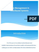 Sci Trust Management in Distributed Systems