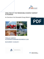 Analysis of the Renewable Energy Market in Romania