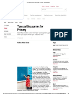 Ten Spelling Games for Primary _ Primary - Macmillan ELT