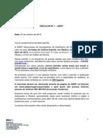 Jornadas ADEP 2014 - circular 1