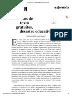 La Jornada_ Libros de Texto Gratuitos, Desastre Educativo