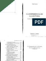 La experiencia de la lectura_ Jorge Larrosa
