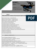 Tabela de Materiais PDF