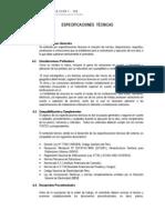 Especificaciones Tecnicas Villa Club 1 Ica - Concurso Nro 62- 2013