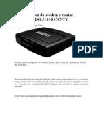 Configuracion de Modem y Router PIRELLI P