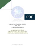 Declaracion Jurada de Iva Intermediario