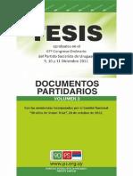 Documento Tesis Partidarias 2012