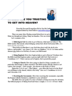 In What Are You Trusting to Get Into Heaven?