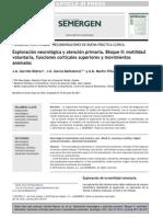 2011_SEMERGEN_Exploración neurológica y AP II. Motilidad voluntaria, cognición y movimientos anómalos_Garrido