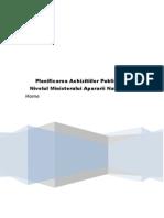 Planificarea Achizitiilor Publice La Nivelul Ministerului Apararii Nationale