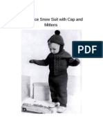 Two Piece Snow Suit With Cap and Mittens Document