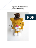 Amigurumi Gentleman Cat